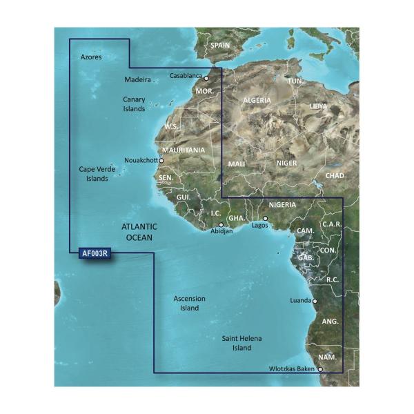 GARMIN MicroSD/SD Card: VAF003R-Western Africa (010-C0749-00)
