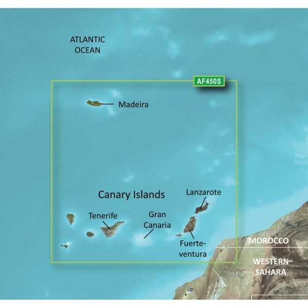 GARMIN Microsd/SD Card: VAF450S-Madeira And Canary Islands (010-C0750-00)