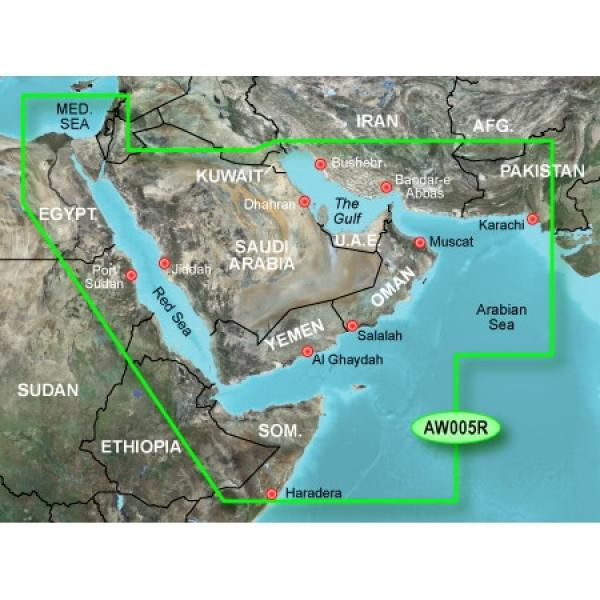GARMIN MicroSD/SD Card: VAW005R-The Gulf And Red Sea (010-C0924-00)