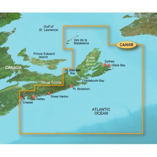 GARMIN MicroSD/SD Card: VCA005R-Halifax To Cape Breton (010-C0691-00)