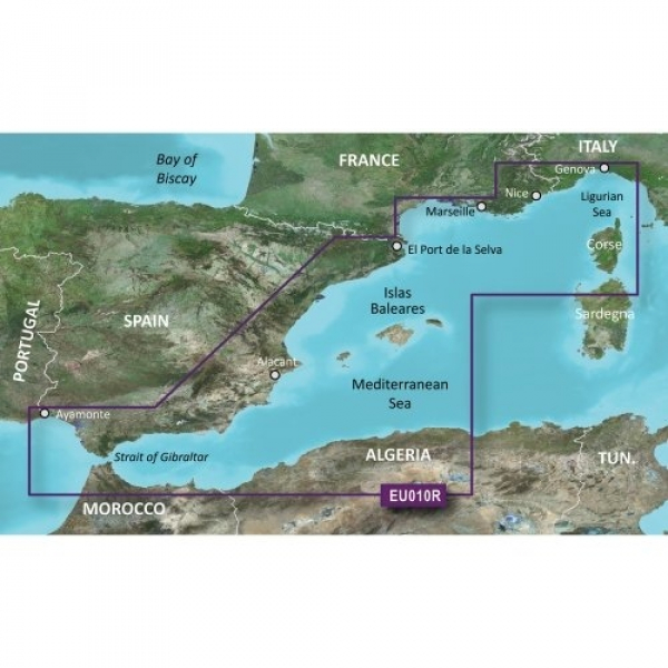 GARMIN MicroSD/SD Card: VEU010R-Spain Mediterranean Coast (010-C0768-00)