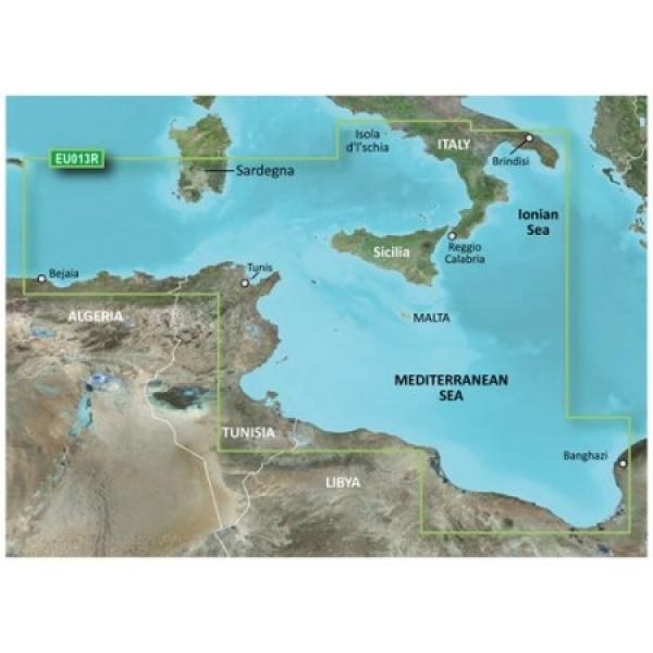 GARMIN MicroSD/SD Card: VEU013R-italy Southwest & Tunisia (010-C0771-00)