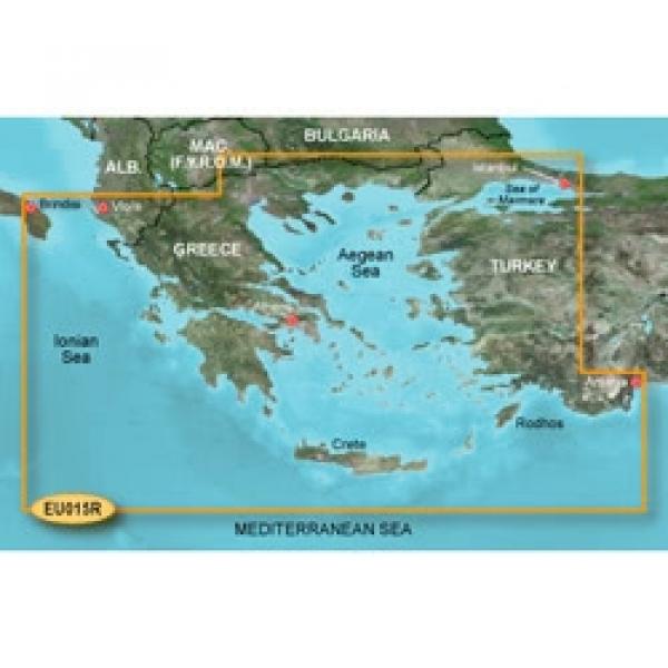 GARMIN MicroSD/SD Card: VEU015R - Aegean Sea & Sea Of Marmara (010-C0773-00)