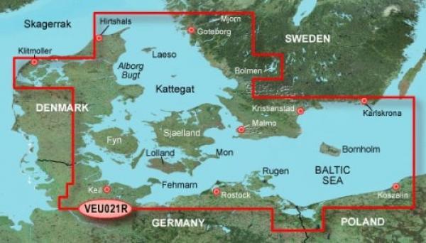 GARMIN MicroSD/SD Card: VEU021R-Denmark East-Sweden Southeast (010-C0777-00)