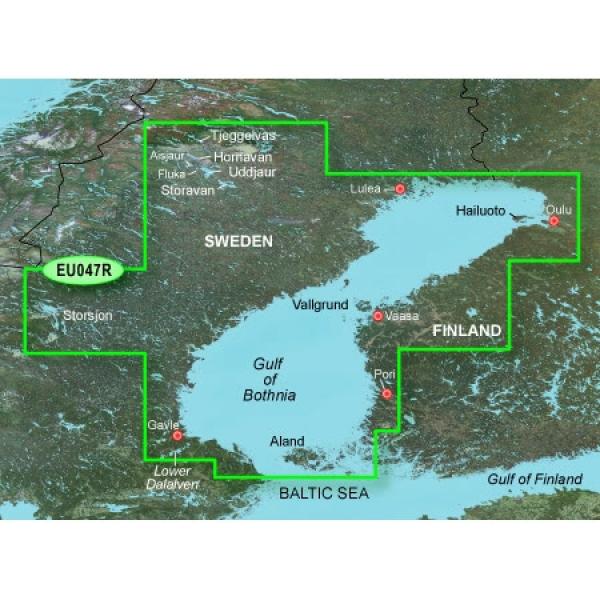 GARMIN MicroSD/SD Card: VEU047R-Gulf Of Bothnia (010-C0783-00)