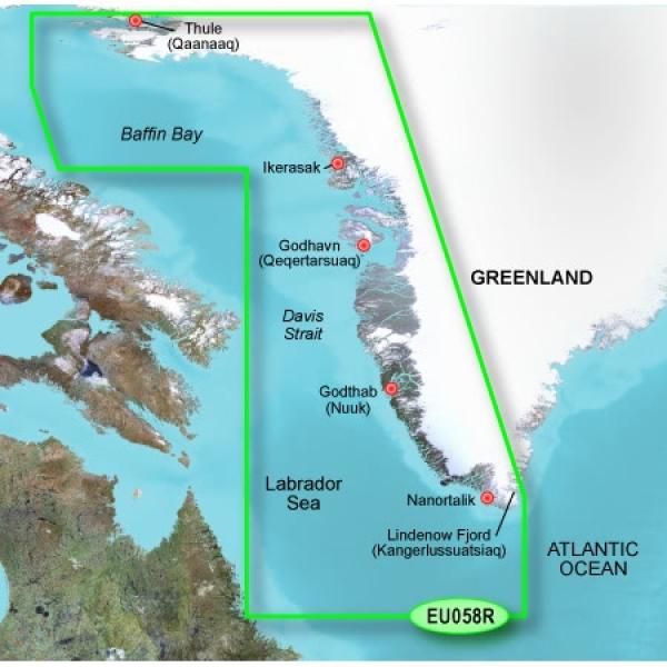 GARMIN MicroSD/SD Card: VEU064R - Greenland (010-C1001-00)