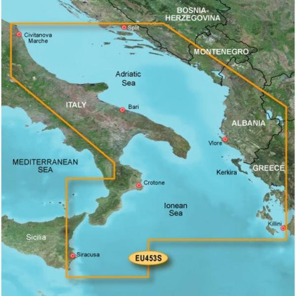 GARMIN MicroSD/SD Card: VEU453S-Adriatic Sea South Coast (010-C0797-00)