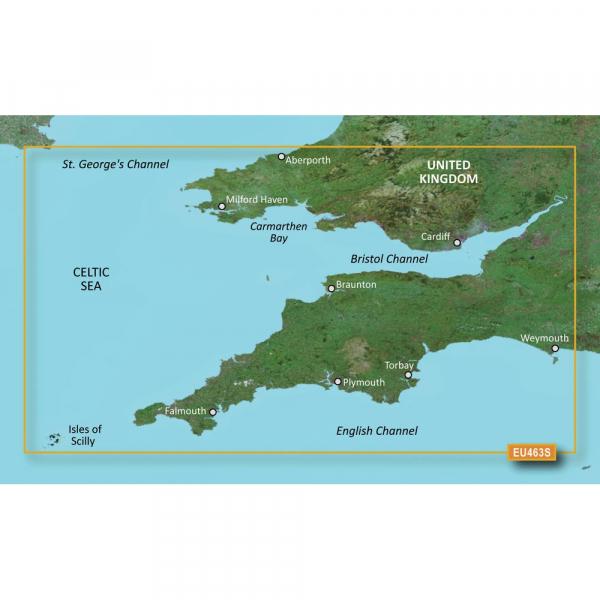GARMIN MicroSD/SD Card: VEU463S-Bristol Channel And England S/W (010-C0807-00)