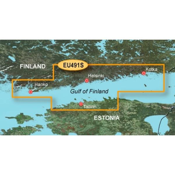 GARMIN MicroSD/SD Card: VEU491S - Hanko-St. Petersburg-Tallin (010-C0835-00)