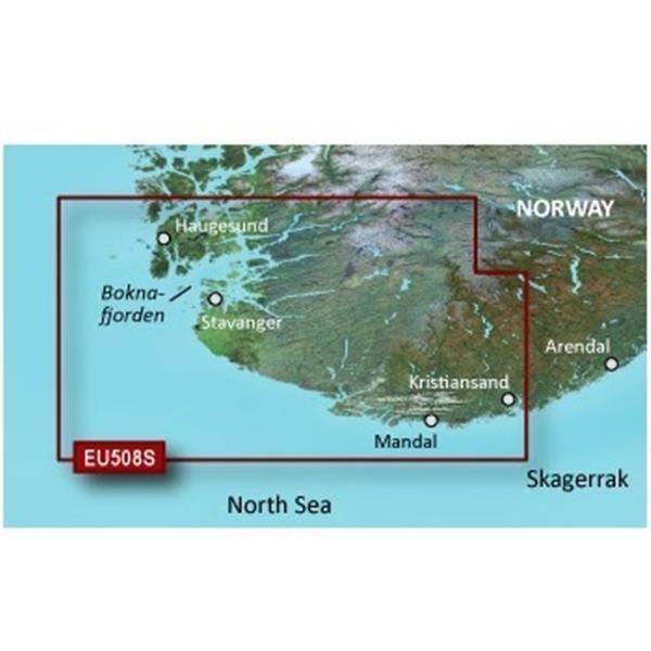 GARMIN MicroSD/SD Card: VEU508S - Kristiansand-Haugesund-Ryfylke (010-C1070-00)