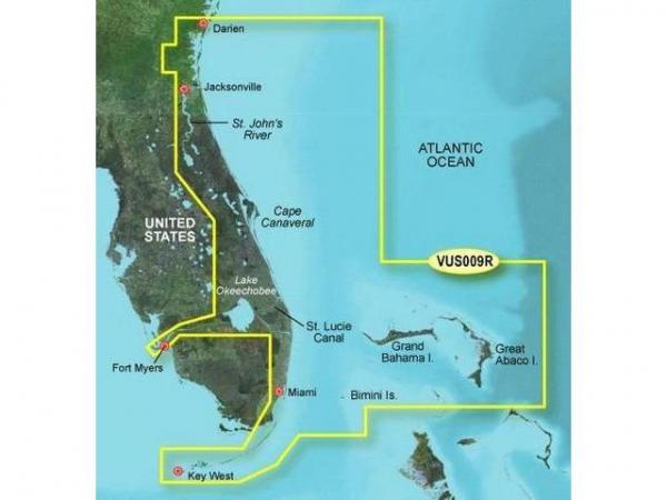Garmin Microsd/sd Card: Vus009r-jacksonville To Key West (010-C0710-00)