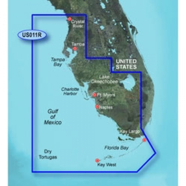 GARMIN MicroSD/SD Card: VUS011R-Southwest Florida (010-C0712-00)