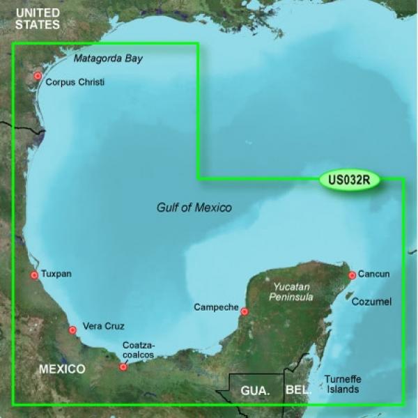GARMIN MicroSD/SD Card: VUS032R-Southern Gulf Of Mexico (010-C0733-00)
