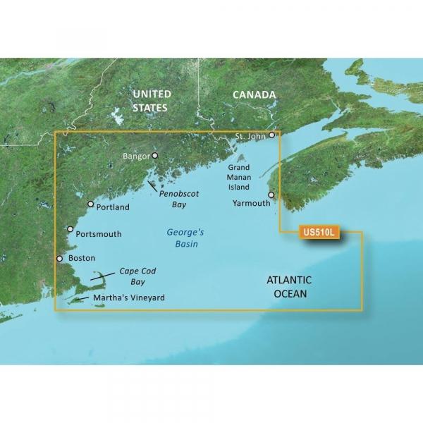 GARMIN MicroSD/SD Card: VUS510l-St.John-Cape Cod (010-C0739-00)