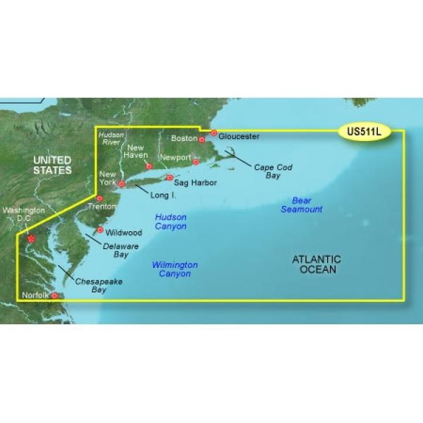 GARMIN MicroSD/SD Card: VUS511I-Boston-Norfolk (010-C0740-00)