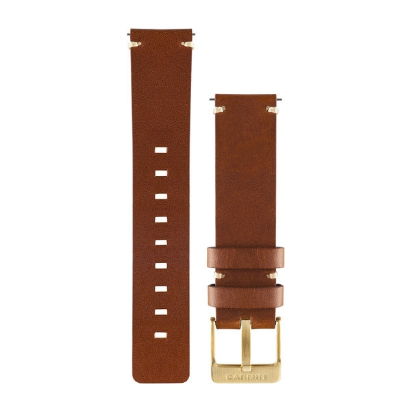 GARMIN Quick Release Band Light Brown Leather Watch Band (010-12495-05)