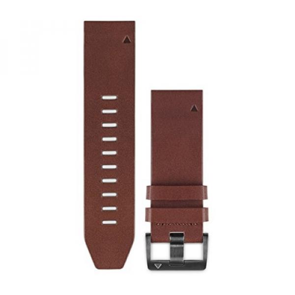 GARMIN Quickfit 22 Watch Bands (Fenix 5) Brown Leather (010-12496-05)