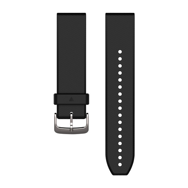 GARMIN Quickfit 22 Watch Bands Black/Silver Silicone (010-12500-00)