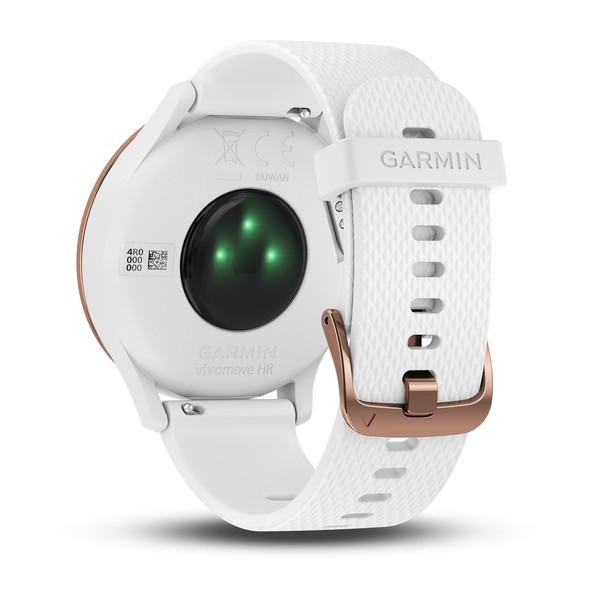GARMIN Vivomove HR Sport White With Rose Gold Hardware (Small/Medium) (010-01850-12)