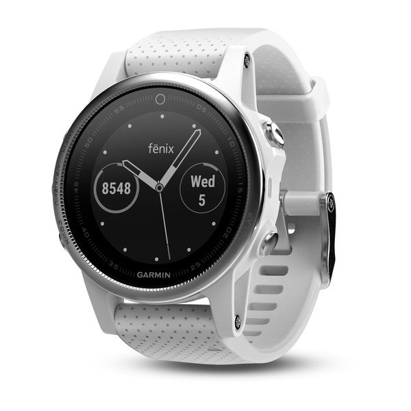 Garmin White Fenix 5s With Carrara White Band (010-01685-00)