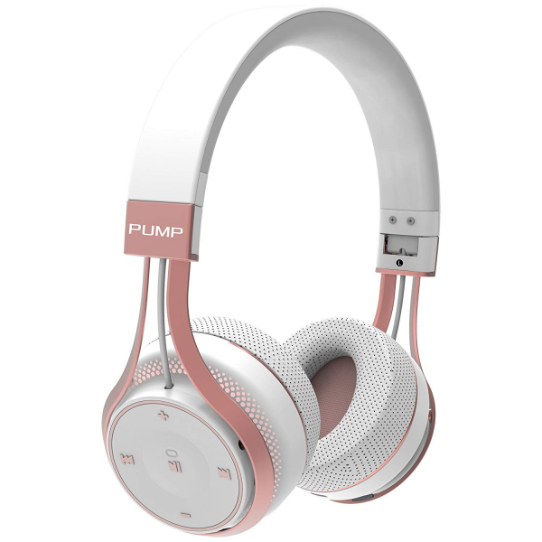 BlueAnt - Pump Soul On Ear Wireless HD Headphones White Rose Gold (PUMP-SOUL-WR)