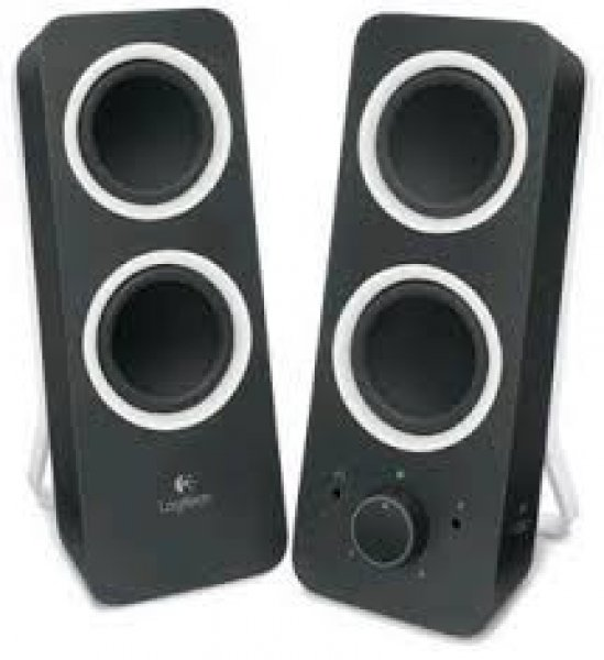 Logitech Z200 Multimedia Speakers- Midnight Black (980-000850)