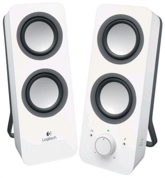Logitech Z200 Multimedia Speakers - Snow White (980-000851)