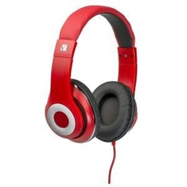 Verbatim Over-ear Calssic Audio Headphones - Red (65067)