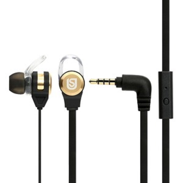 Verbatim In Ear Headphones Black/Gold (66120)