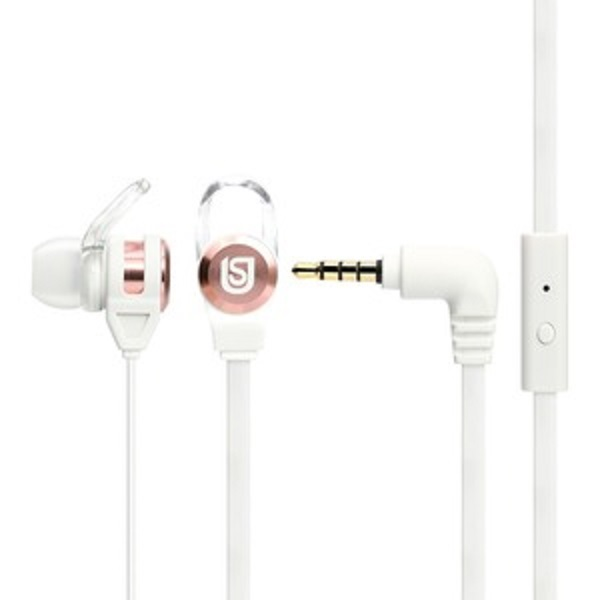 Verbatim In Ear Headphones White/Rose Gold (66121)
