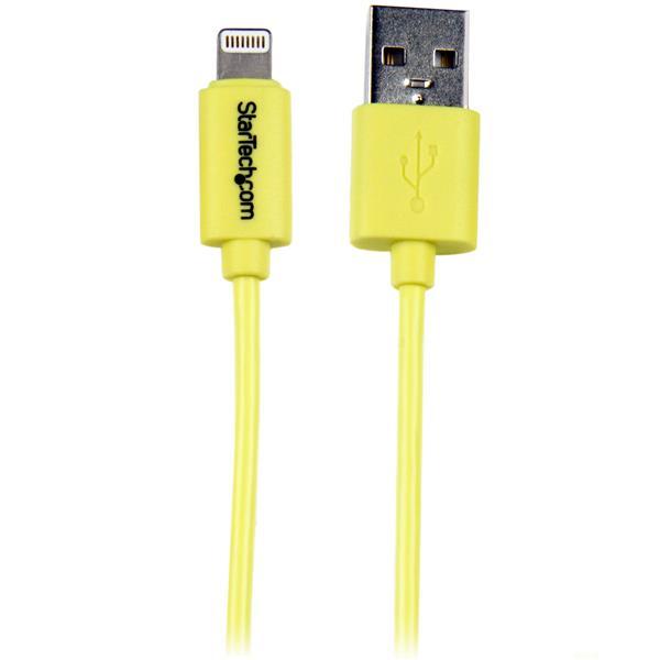 Startech 1m Yellow 8-pin Lightning To Usb Cable (USBLT1MYL)
