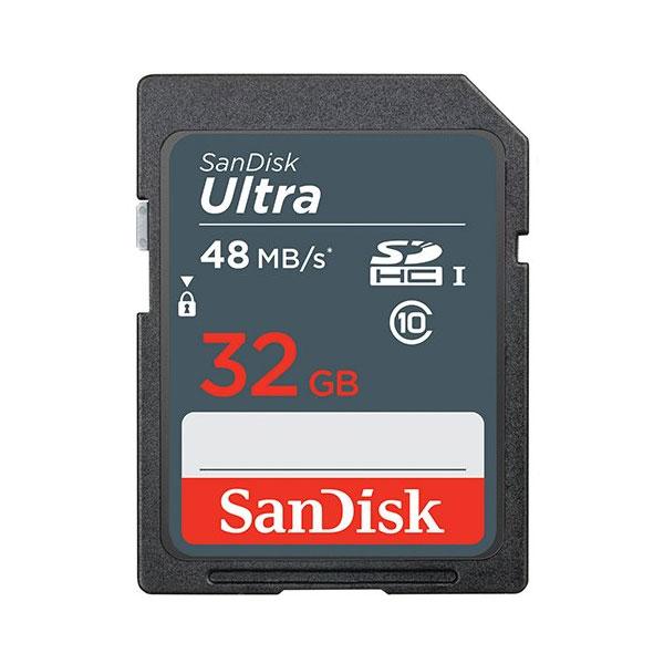 Sandisk 32GB SDHC Class 10 Ultra 48mb/S SDSDunb-032G Digital Media (FFCSAN32GSDUNB48)