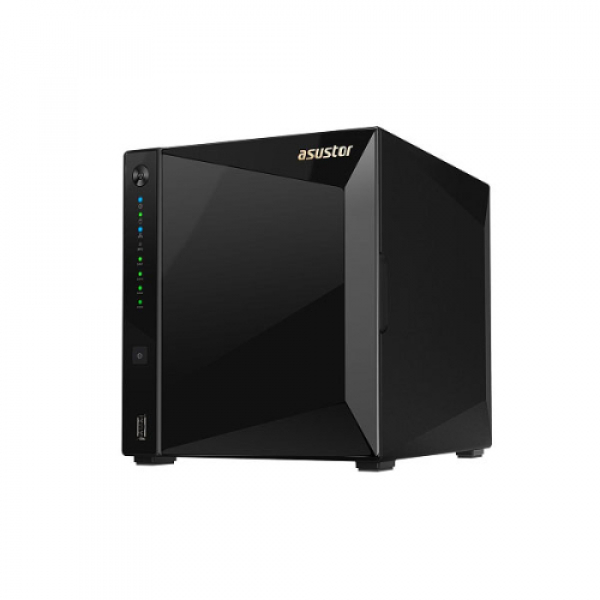 Asustor 4-Bay Nas Marvell Armada A7020 1.6GHz Dual-Core 2GB DDR4, Gen 1 x2, 10GbE Network Storage (AS4004T)