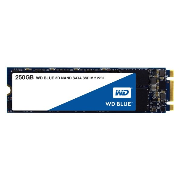 Western Digital Blue 250GB M.2 3D Nand 2280 SSD 560/530 R/W SSD Drives (WDS250G2B0B)