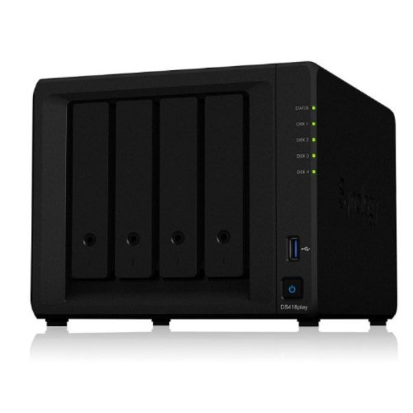 Synology Diskstation 4-bay 3.5 Diskless 2xgbe Nas (HMB) Intel Celeron J33 Network Storage (DS418PLAY)