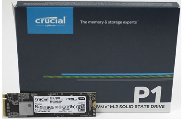 Micron Crucial P1 500GB M.2 (2280) NVME Pcie SSD - 3D Nand 1900/950 MB/S Drives (CT500P1SSD8)