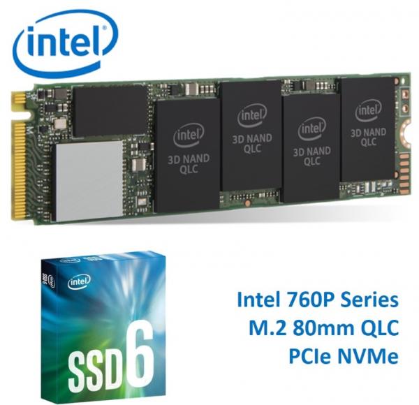 Intel 660P Series M.2 80mm 512GB SSD 3D2 QLC Pcie NVME 1500R/1000W MB/S (SSDPEKNW512G8X1)
