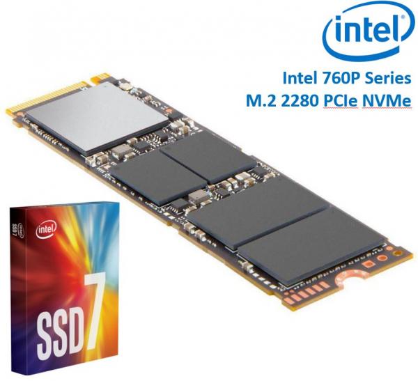 Intel 760P Series M.2 80MM 512GB SSD 3D2 Tlc Pcie Nvme 3230/1625MB/S 34 (SSDPEKKW512G8XT)