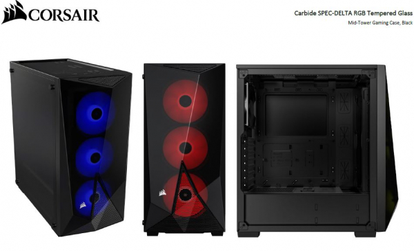 Corsair Carbide Series Spec-delta Rgb Tempered Glass Mid-tower Atx Gaming (CC-9011166-WW)