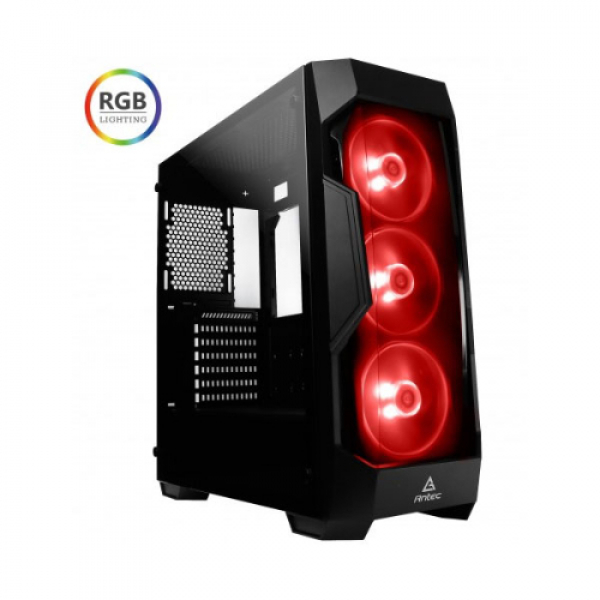 Antec Atx Tempered Glass Tinted Front 3x Rgb Fan 380mm Vga Gaming Case (DF500 RGB)