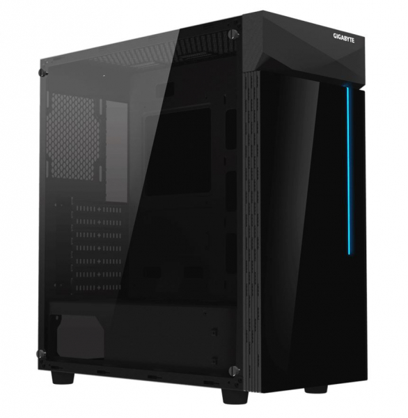Gigabyte C200 Rgb Tempered Glass Atx Mid-tower Pc Gaming Case 2x3.5