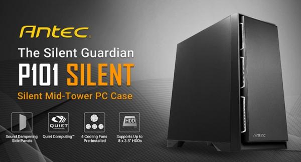 Antec P101 Silent Atx E-atx Case 1x 5.25