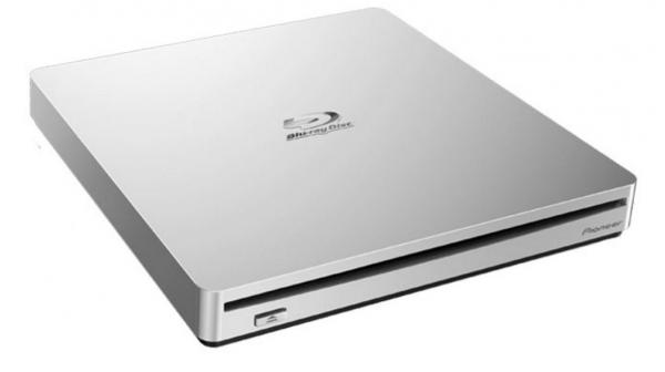 Pioneer 8x Slim External Portable Usb 3.0 Blu-ray Writer Burner White Slo (BDR-XS06T)