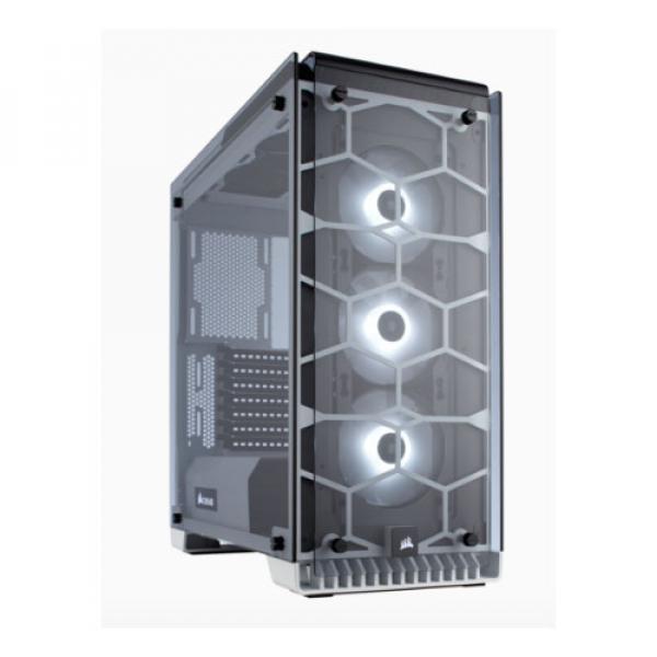 Corsair 570x Rgb Crystal Series. 3x 120mm Rgb Led Fan Atx Gaming Case Whi (CC-9011110-WW)