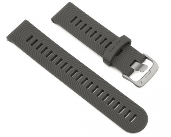GARMIN Quick Release Band Slate Silicone Band With Stainless Steel Hardware (010-11251-1N)