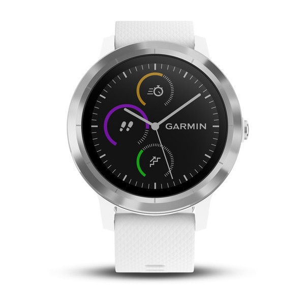 Garmin Vivoactive 3 White With Silver Hardware (010-01769-21)