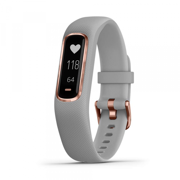 GARMIN Vivosmart 4 Small/Medium Gray With Rose Gold Hardware (010-01995-12)