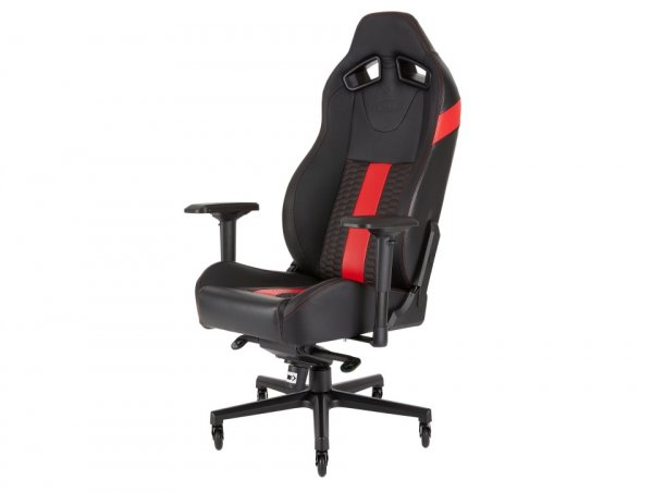 Corsair T2 Road Warrior High Back Desk And Office Chair Black/red 2 Year  (CF-9010008-WW)