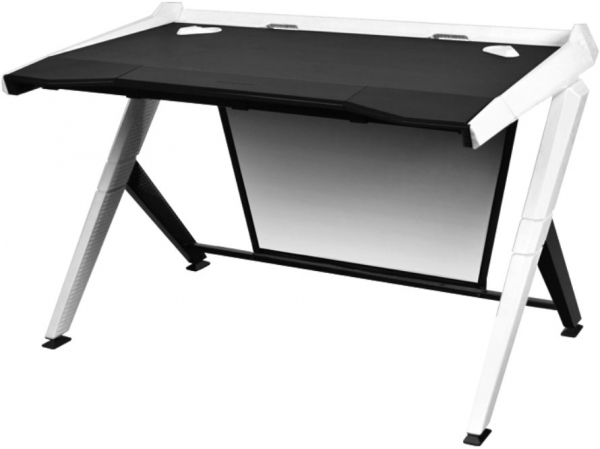 Dxracer 1000 Series Gaming Desk - Black & White (GD/1000/NW)