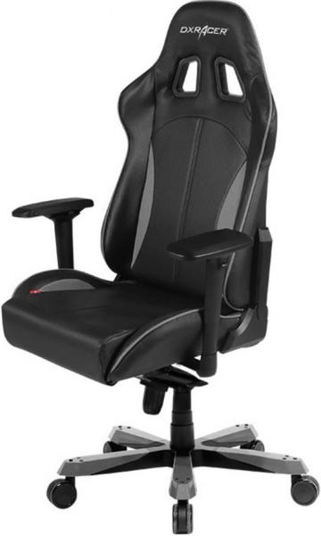 Dxracer King Ks57 Gaming Chair - Neck/lumbar Support Black & Carbon Grey (OH/KS57/NG)